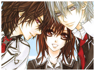 I'd have to say Vampire Knight... I personally Cinta VK, but 'MOST' of the fangirls are just annoying. They compare VK to the Twilight series. Yuuki being Bella, Kaname being Edward, and Zero being Jacob. : / And then the huge fanwar starts. 'Kaname/Edward is better than Zero/Jacob'.