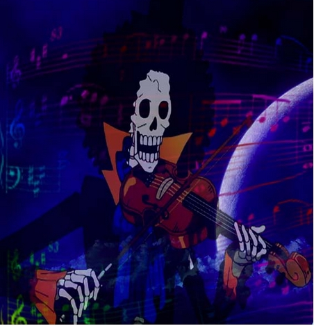Brook from One Piece playing a violin!x)