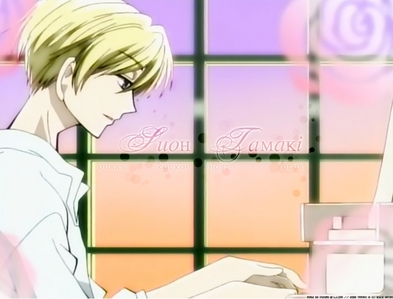 Here's a picture of Tama-chan from Ouran Highschool Host Club playing a piano!