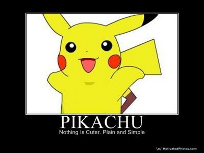 im a girl and i used to be obsessed with pokemon then i kind of stopped liking it but the other day i picked up pokemon pearl version and now im starting to like pokemon again. my favourite pokemon has always been Pikachu. :)