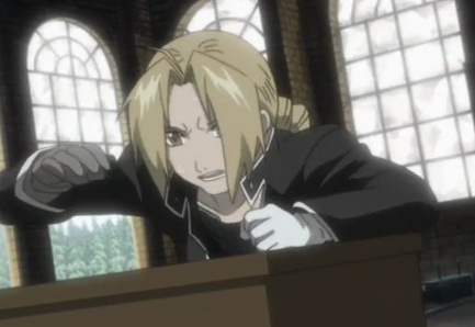 Hmm Well..Ed from FMA has Blonde hair!