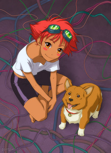 Ed with Ein from Cowboy Bebop!