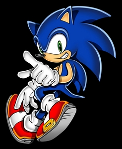 sonic used to be brown like a 'normal' hedgehog until he broke the sound barrier