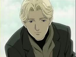 well a guy with yellow hair would be Johan liebert from monster he is the serial killer