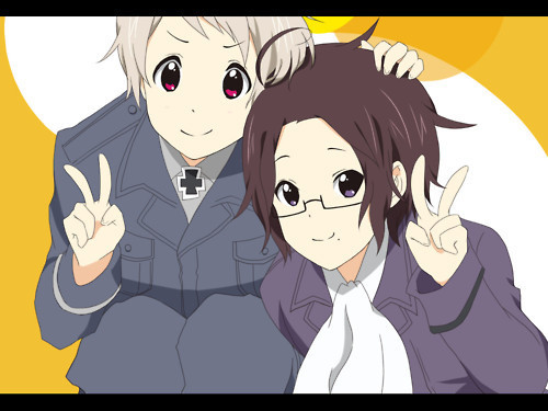 Prussia and Austria from Hetalia.