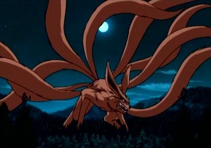 Nine-Tailed Demon लोमड़ी, फॉक्स from Naruto.