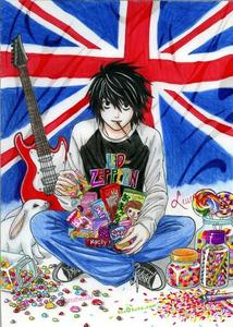 L is eating sweets~!