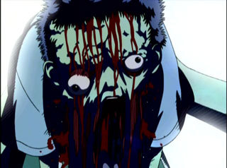 It didn't really scared me but disturbed me greatly...*shuddershuddershudder* Requiem from the Darkness The image is probably just from the episode preview....this প্রদর্শনী is almost bloodier than Hellsing before it even starts!