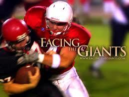 "Facing the Giants ""If God's on your side anda can do anything"""