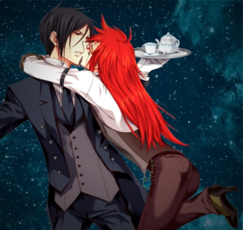 grell x sebastian kiss wwwimgkidcom the image kid