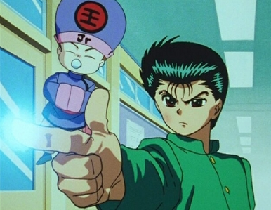 Does Yusuke's Spirit Gun count as a weapon?,oh and he's from Yu Yu Hakusho bởi the way.