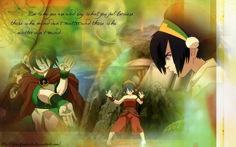 I don't really have one. Fictional または real so I'm just going to post someone that I really like. Toph from ATLA