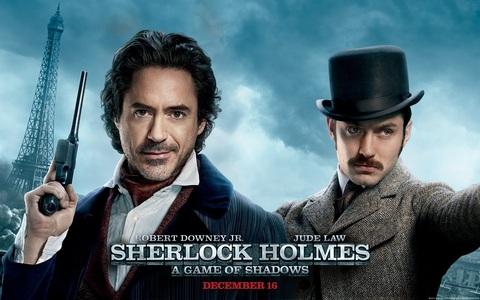 i saw sherlock holmes a game of shadows tonight! i l'amour sherlock holmes!! holmes and watson make me laugh.