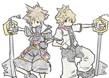 Sora and Roxas from Kingdom Hearts:)