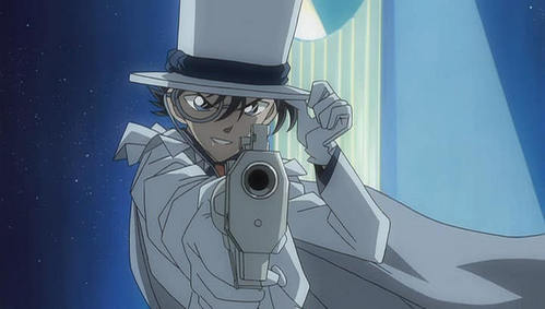 Kaito Kid, known as the magician of the moonlight, phantom thief kid, Kaito 1412.