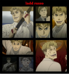 Ladd russo from baccano he প্রণয় killing and will kills anyone he wants he even told his fiance he would kill her but he wants her to stick around now this is a real killer! here is another link to see an amv http://youtu.be/LiQnGVXGMto
