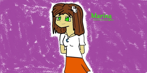 am i too late? Name:Marina Nakamura Abilities:angel powers,can attack with own hands and heal.(she shows her wings only if its really needed.) Age:13 Personality: always wants to go on an adventure hates everything boring and behaves a little bit too childish for her age.^^'' Race:Angel Relatives:a mother,a father,a sister,2 brothers,a cousin. History:was born in heaven. learnt to be a good fighter and healer.she falls in प्यार with a human boy named Kesson. she wants to be his guardian एंजल but she is not allowed to so she left heaven and began a new life on earth with her sister named Sandra who came with her. Sidekick:an white shining ऊद, ओटर, ऊदबिलाव thats able to heal too. Hair coulour:brown Eye colour:emerald green clothes:a white t-shirt with a hazel brown skirt.an white hibiscus on her right ear,and a blue moon necklace.(skin has ordianary skin coulour. Other:like i कहा she shows her wings only if its really needed,and she is i प्यार with kesson he has short black hair blue eyes and a black-white कमीज, शर्ट with ordianary jeans.