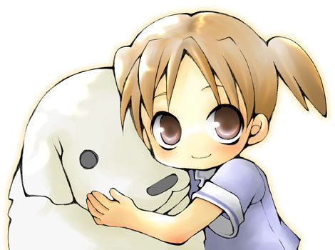 This is Chiyo-chan with her doggie :3 So cute!