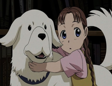This is Nina and her dog Alexander from Fullmetal Alchemist!