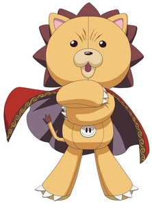 Kon from Bleach, is weird in appearance and personality X3