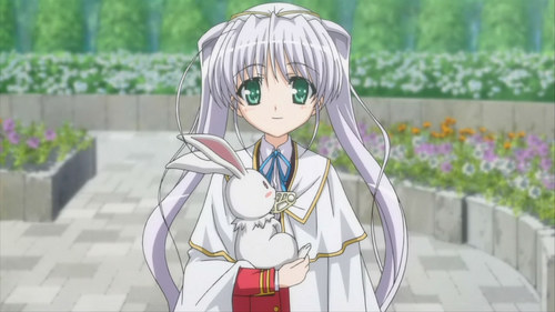 Yukimaru, the rabbit and... i forgot the name of the girl >.< from Fortune Arterial