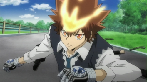 Tsuna when he's in his HDWM!