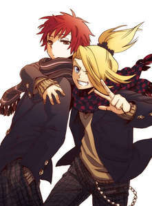 this sasori the cutie and deidara [sry if spelled wrong]
