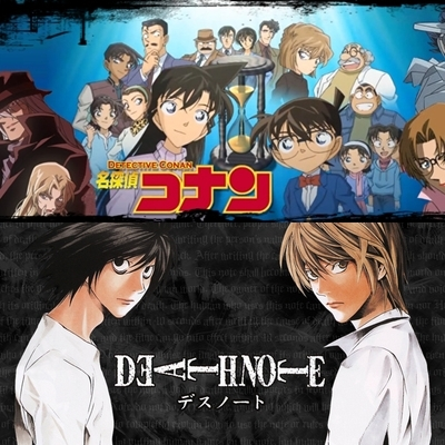 I recommend Death Note and Detective Conan