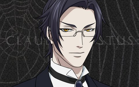 Claude from black butler 2 has golden/yellow eyes.