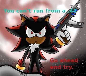 My icono is Shadow the Hedgehog because he's awesome and he's my favorito! Sonic character.
