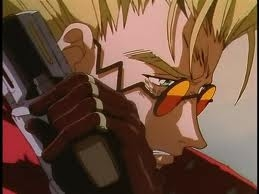"""""""So stand in the rain, Stand your ground, Stand up  When it's all crashing down, Stand through the pain, You won't drown, And one day what's lost, can be found, You stand in the rain."""" -Stand in the Rain by Superchic  And the character I choose is Vash the Stampede from Trigun. Yes I think this song suits him. I might be the only one but the way I looked at Vash, he really has been through a lot and he really does stand in the rain... ^^"""