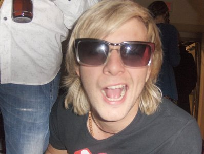"""Everything Keith Harkin has... duh. Keith says """"Aye That friggin crazy chick loves me!!!!"""""""