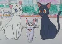 Luna,Artemis and Diana from Sailor Moon
