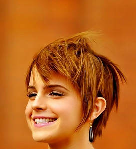 Cute with her Pixie Cut ! :) <3