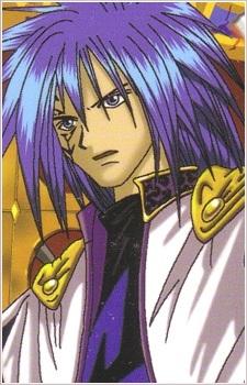 He's got blue hair!