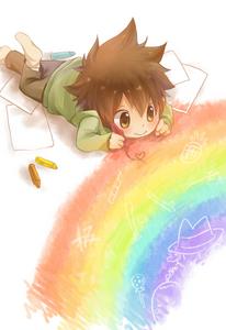 日本动漫 彩虹 coloring book :D