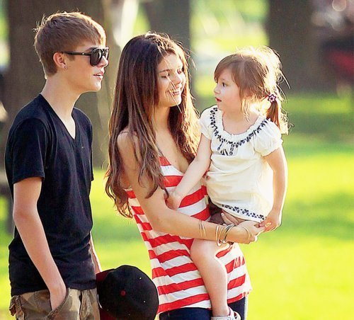 Here, with Justin Bieber(another star)