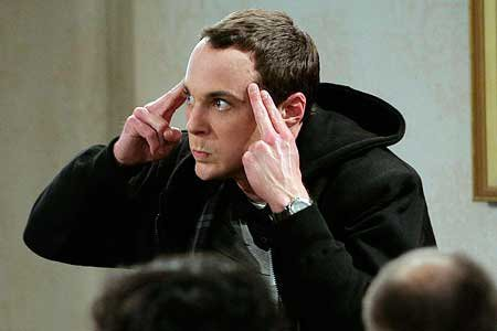 Sheldon Cooper. For two reasons: 1. I'm SO SO SO nerdy; 2. And I tried to blow up a head with my mind. Once.