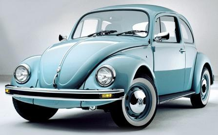 "Volkswagen ""bug"" in blue ou green"