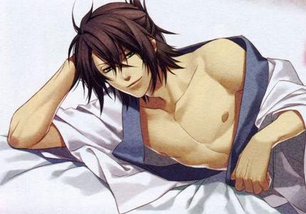 Okita Souji from Hakuouki. Isn't he a beast???!!! OMG!! I cried when he got tuberculosis...