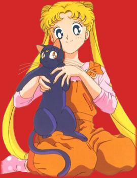 Usagi holding Luna