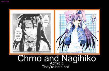 these two are my current ones  Chrono: chrono crusade (currently watching)  Nagi: shugo chara