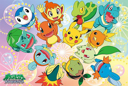 I don't know because I love all the pokemon but these are of my fav^^