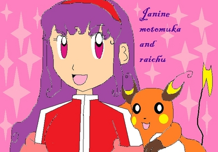 raichu  i love raichu oh and here's a picture of my pokemon character janine motomuka i made her up