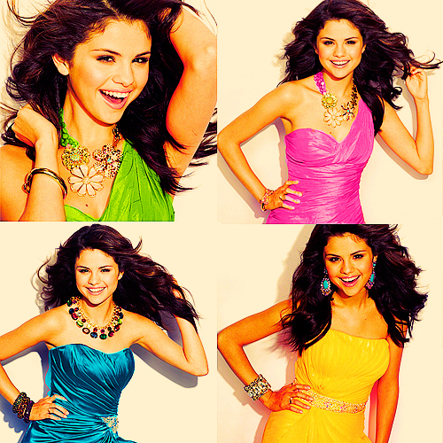 Here, She's wearing green in the 1st picture..