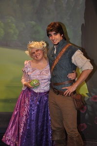 """Eugene Fitzherbert is my most inayopendelewa prince! Sorry But I perfer Eugene over Flynn Rider! Anyways I upendo everything about Eugene.He is not only handsome, but he is very funny,sweet,loving,caring,romantic and very brave! I upendo the transformation he goes through in movie from Flynn Rider who is self centerted,selfish,cocky to Eugene Fitzherbert who is very sweet,loving and caring guy who do anything for you. """"You were my new dream"""" Squee! It gets me everytime. Who wouldnt want guy like that! And yes this is me meeting Eugene at Disney World back in October last mwaka at Mickeys Not So Scarry Halloween party!"""