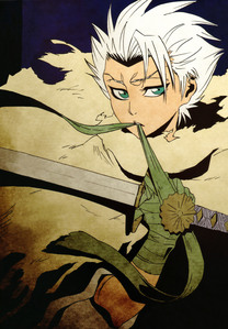 Bleach: The Diamonddust Rebellion.      Because it's all about Hitsugaya-Taicho. the picture is on the back of the little pamphlet that comes with the two-disc edition.