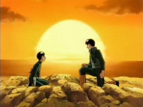 I प्यार the idea of Rock Lee and Gai-sensei <333