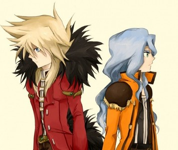 spectra ( older brother of mira) and gus ( older bro of katrine)( gus sister is never shown) from bakugan