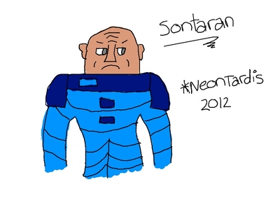 I draw using my Drawing Tablet, ^^ This is one of the villains in Doctor Who. (It's on my deviantART, C:)